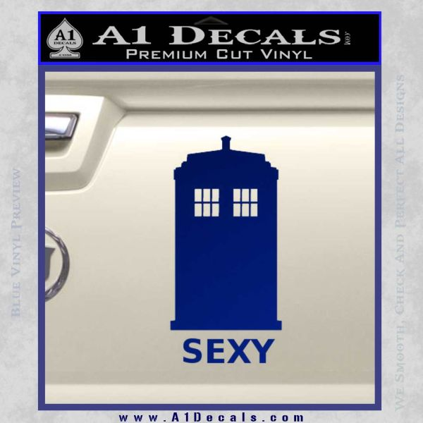 Doctor Who Simple Sexy Tardis Decal Sticker Blue Vinyl