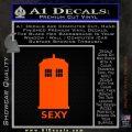 Doctor Who Simple Sexy Tardis Decal Sticker Orange Emblem 120x120