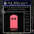 Doctor Who Simple Sexy Tardis Decal Sticker Pink Emblem 120x120