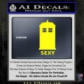 Doctor Who Simple Sexy Tardis Decal Sticker Yellow Laptop 120x120