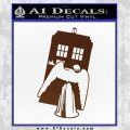 Doctor Who TARDIS Angel Decal Sticker BROWN Vinyl 120x120