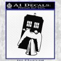 Doctor Who TARDIS Angel Decal Sticker Black Vinyl 120x120