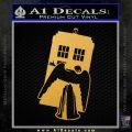 Doctor Who TARDIS Angel Decal Sticker Gold Vinyl 120x120