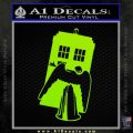 Doctor Who TARDIS Angel Decal Sticker Lime Green Vinyl 120x120