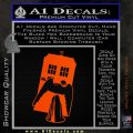 Doctor Who TARDIS Angel Decal Sticker Orange Emblem 120x120