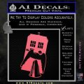 Doctor Who TARDIS Angel Decal Sticker Pink Emblem 120x120