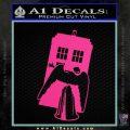 Doctor Who TARDIS Angel Decal Sticker Pink Hot Vinyl 120x120