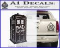 Doctor Who TARDIS Bad Wolf Decal Sticker Carbon FIber Black Vinyl 120x97