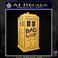 Doctor Who TARDIS Bad Wolf Decal Sticker Gold Vinyl 120x120