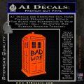 Doctor Who TARDIS Bad Wolf Decal Sticker Orange Emblem 120x120