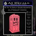 Doctor Who TARDIS Bad Wolf Decal Sticker Pink Emblem 120x120