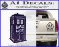 Doctor Who TARDIS Bad Wolf Decal Sticker PurpleEmblem Logo 120x97