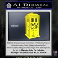 Doctor Who TARDIS Bad Wolf Decal Sticker Yellow Laptop 120x120