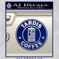 Doctor Who TARDIS Coffee Decal Sticker Starbucks Blue Vinyl 120x120