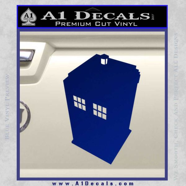 Doctor Who TARDIS DT Decal Sticker Blue Vinyl