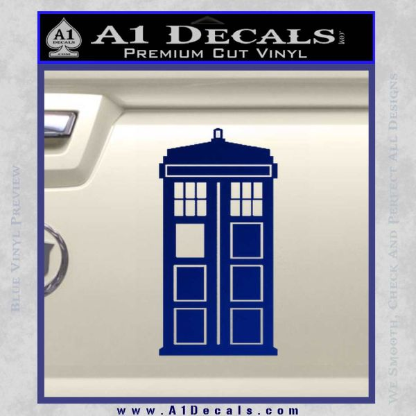 Doctor Who TARDIS Decal Sticker D1 Blue Vinyl