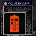 Doctor Who TARDIS Decal Sticker D1 Orange Emblem 120x120