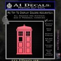 Doctor Who TARDIS Decal Sticker D1 Pink Emblem 120x120