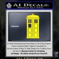 Doctor Who TARDIS Decal Sticker D1 Yellow Laptop 120x120