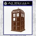 Doctor Who TARDIS Decal Sticker D2 BROWN Vinyl 120x120