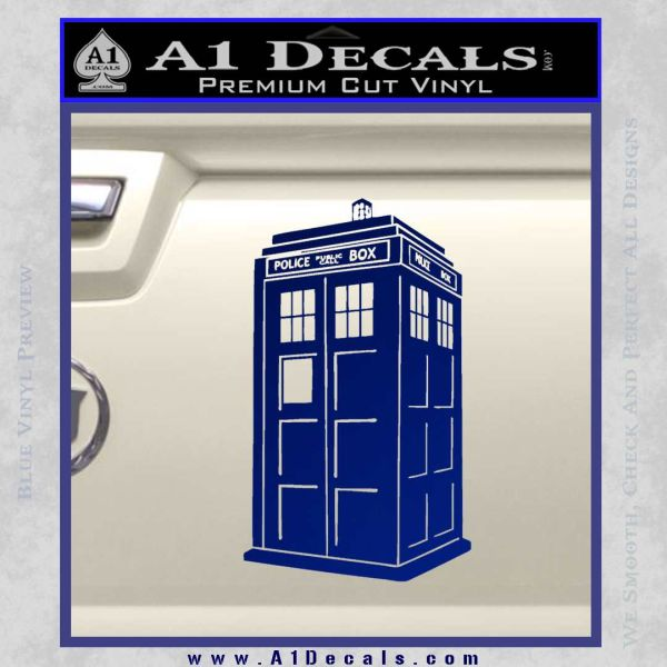 Doctor Who TARDIS Decal Sticker D2 Blue Vinyl