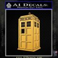 Doctor Who TARDIS Decal Sticker D2 Gold Vinyl 120x120