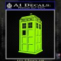 Doctor Who TARDIS Decal Sticker D2 Lime Green Vinyl 120x120