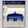 Doctor Who TARDIS Top Silhouette Decal Sticker Blue Vinyl 120x120