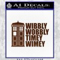 Doctor Who TARDIS Wibbly Wobbly Decal Sticker BROWN Vinyl 120x120