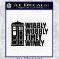 Doctor Who TARDIS Wibbly Wobbly Decal Sticker Black Vinyl 120x120