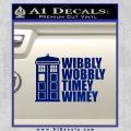 Doctor Who TARDIS Wibbly Wobbly Decal Sticker Blue Vinyl 120x120