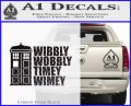 Doctor Who TARDIS Wibbly Wobbly Decal Sticker Carbon FIber Black Vinyl 120x97