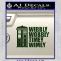 Doctor Who TARDIS Wibbly Wobbly Decal Sticker Dark Green Vinyl 120x120