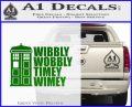 Doctor Who TARDIS Wibbly Wobbly Decal Sticker Green Vinyl Logo 120x97