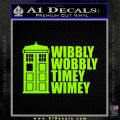 Doctor Who TARDIS Wibbly Wobbly Decal Sticker Lime Green Vinyl 120x120