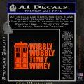 Doctor Who TARDIS Wibbly Wobbly Decal Sticker Orange Emblem 120x120