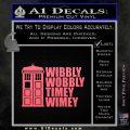 Doctor Who TARDIS Wibbly Wobbly Decal Sticker Pink Emblem 120x120