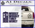 Doctor Who TARDIS Wibbly Wobbly Decal Sticker PurpleEmblem Logo 120x97
