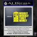 Doctor Who TARDIS Wibbly Wobbly Decal Sticker Yellow Laptop 120x120