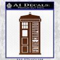 Doctor Who Tardis Future Companion Decal Sticker BROWN Vinyl 120x120