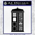 Doctor Who Tardis Future Companion Decal Sticker Black Vinyl 120x120
