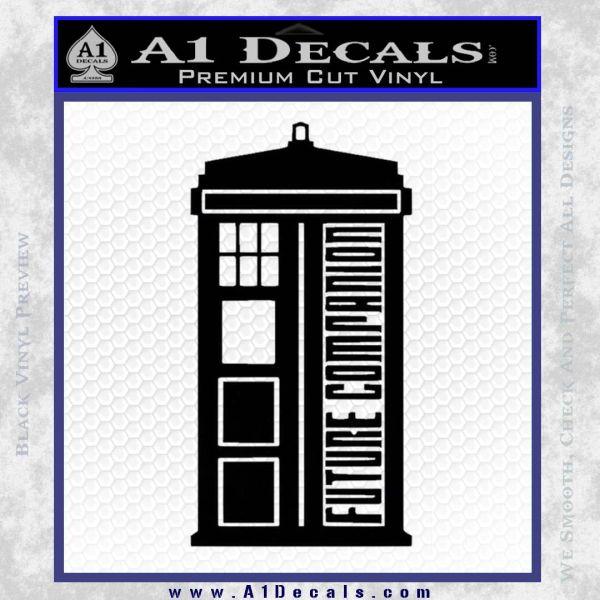 Doctor Who Tardis Future Companion Decal Sticker Black Vinyl