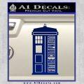 Doctor Who Tardis Future Companion Decal Sticker Blue Vinyl 120x120