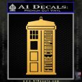 Doctor Who Tardis Future Companion Decal Sticker Gold Vinyl 120x120