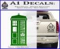 Doctor Who Tardis Future Companion Decal Sticker Green Vinyl Logo 120x97