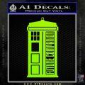 Doctor Who Tardis Future Companion Decal Sticker Lime Green Vinyl 120x120