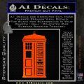 Doctor Who Tardis Future Companion Decal Sticker Orange Emblem 120x120