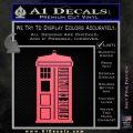 Doctor Who Tardis Future Companion Decal Sticker Pink Emblem 120x120