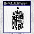 Doctor Who Tardis Mad Man With A Box Decal Sticker Black Vinyl 120x120