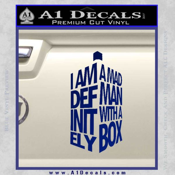 Doctor Who Tardis Mad Man With A Box Decal Sticker Blue Vinyl